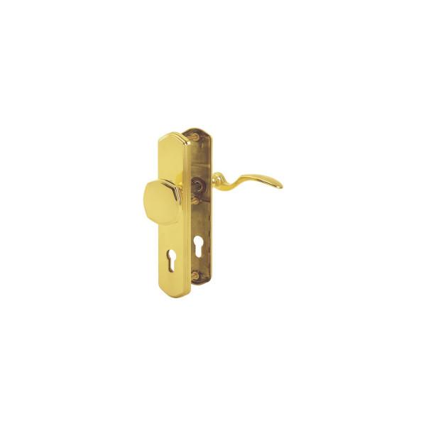 Hoppe Sicherheitsgarnitur Ö-NORM PZ 88 Modell MÜNCHEN Schutzbeschlag Wechselgarnitur Drücker/Knopf M