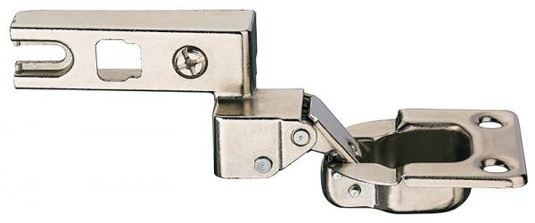 Häfele Klappenscharnier H3964 Topfscharnier mit Montageplatte für Holzklappen Öffnungswinkel 95°