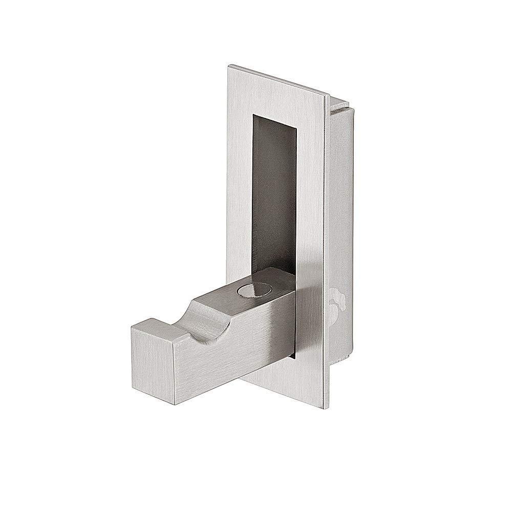 Häfele Klapphaken H3846 Edelstahl gebürstet Garderobenhaken zum Klappen mit Magnet