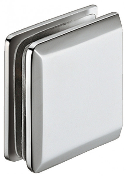 Aquasys Glashalter gerade Messing chrom poliert für Glasdicke 8-12mm