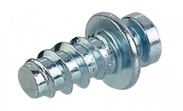 Häfele Verbindungsschraube Modular ohne Spitze für einseitigen Anschlag in Holz in Lochreihen