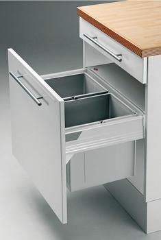 Häfele Doppel-/Dreifach-Abfallsammler für Blum Tandembox zum Einhängen in Auszugssysteme