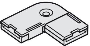 Häfele Eckverbinder 24 V multi-weiß für 10 mm Loox LED-Band