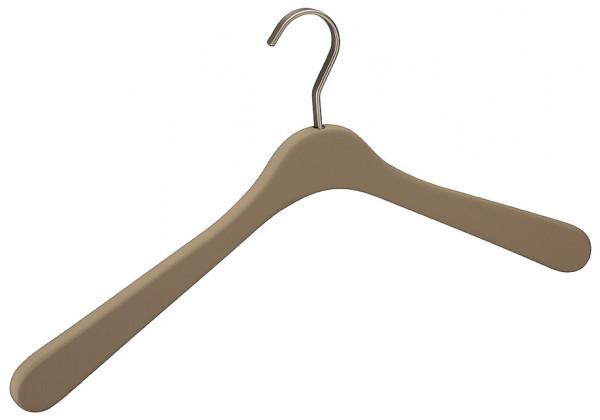 Häfele Kleiderbügel H5207 Massivholz Soft-Touch Haken matt silber