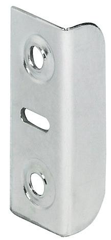 Schließwinkel aus Stahl für Möbelschlösser 33x12 mm