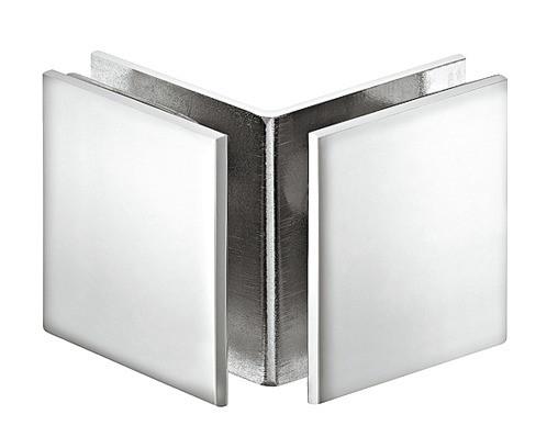 Aquasys Glashalter 90° Messing chrom poliert für Glasdicke 8-12mm