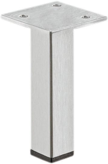 Häfele Möbelfuß H3909 Edelstahl ohne Höheneinstellung mit Platte