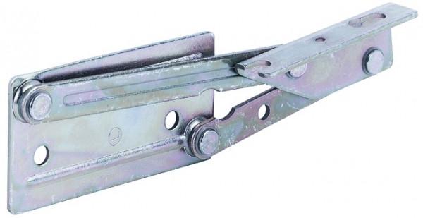 Häfele Eckbankscharnier H3906 Deckelstütze für Sitzplatten aus Holz ohne Feder