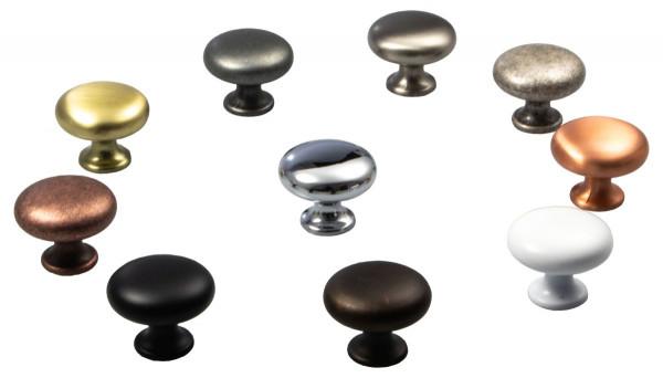Möbelknopf DUKE aus Metall Ø 31 mm