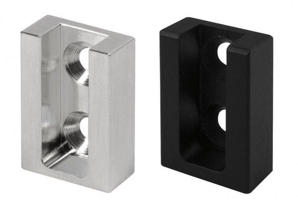 Schrankrohrlager eckig 25x10 Nano / Nano Black