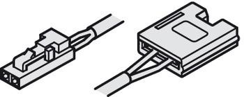 Häfele Zuleitung 24 V mit Clip für 10 mm Loox LED-Band