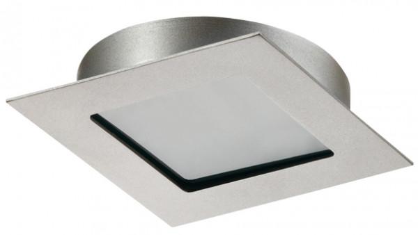 Häfele Ein-/Unterbauleuchte 12 V quadratisch LED 1080 Loox Einbauspot Aluminium