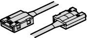Häfele Verbindungsleitung 12/24 V mit Clip für 8 mm Loox LED-Silikonband