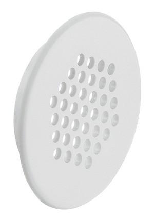 Häfele Lüftungsgitter H3604 rund Ø 48 mm Kunststoff weiß