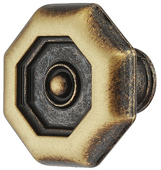 Häfele Möbelknopf H2073 Schrankknopf Antik braun durchgerieben