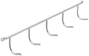 Kesseböhmer Hakenleiste Stahl verchromt 5 Haken
