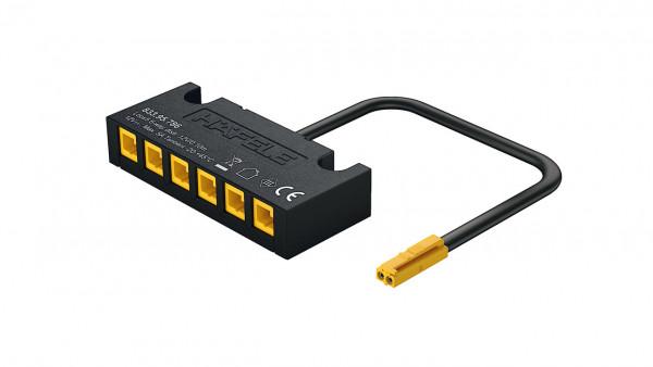 LOOX5 6-Fach-Verteiler 12V oder 24V ohne Schalteranschluss monochrom