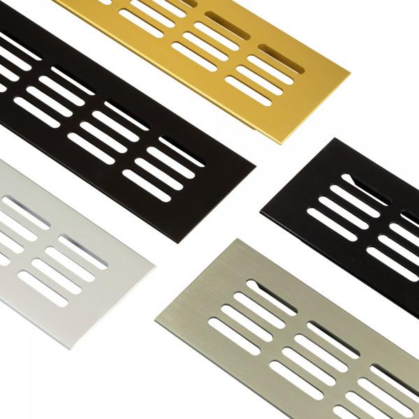 Gedotec Lüftungsgitter mit gerillten Stegen verschiedene Farben und Größen