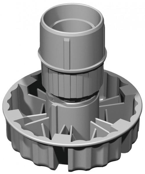 Häfele Sockelverstellfuß H3945 HE Rohr mit Einschraubgleiter