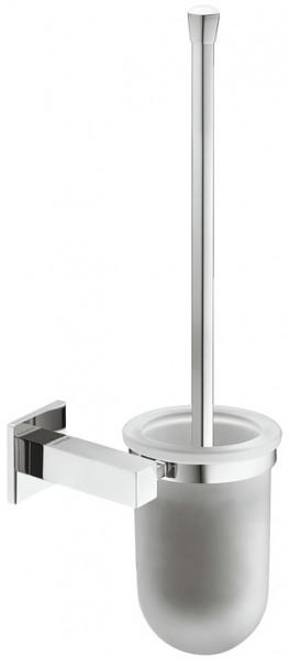 Häfele WC-Bürstengarnitur H5750 Messing chrom poliert eckig