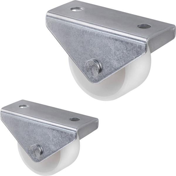 Bockrolle Ø 25 - 30 mm weiß für weiche Böden