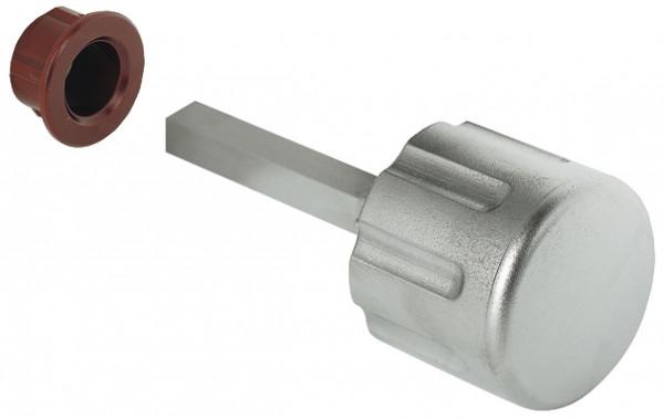Häfele Drehknopf H6140 für Push Lock Aufschraub-Fallenschloss vernickelt matt