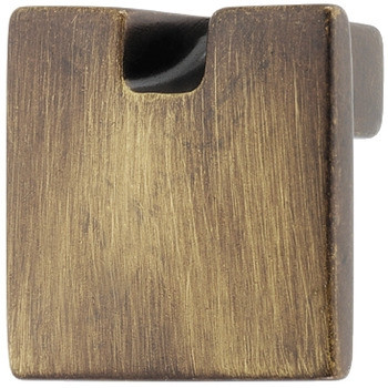 Häfele Möbelknopf H2043 Messing Schrankgriff eckig braun durchgerieben