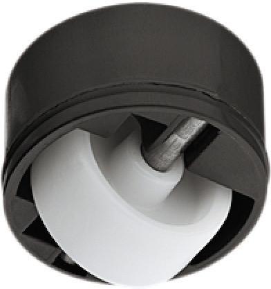 Häfele Möbelrolle H4804 Kastenrolle Tragkraft 50 kg ohne Blockierfunktion starr zum Einpressen
