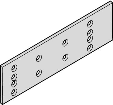 Dorma Montageplatte für TS 71 und TS 72 silberfarben