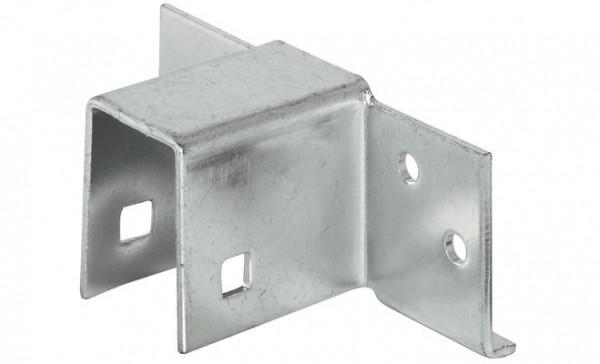 Häfele Bettsockel-Verbinder Stahl verzinkt für Einzel- und Doppelbetten 19 oder 23 mm