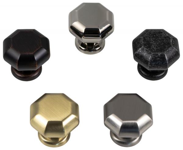 Möbelknopf ZELDA aus Metall Ø 37 mm