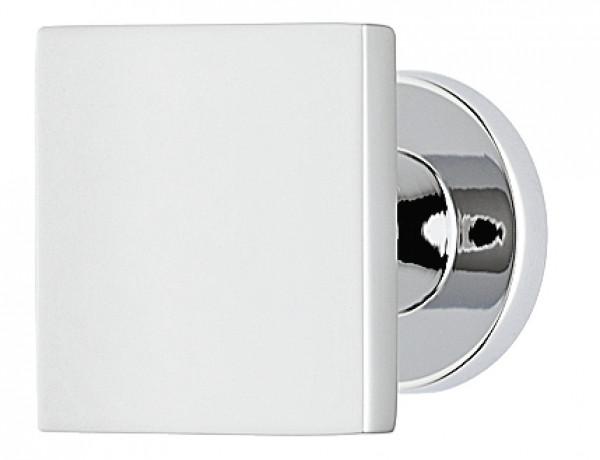 Häfele Möbelknopf H2050 Schrankgriff quadratisch Messing