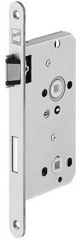 Startec Einsteckschloss für Holztüren Bad/WC 78 Dornmaß 55 mm mit Flüsterfalle und Riegel