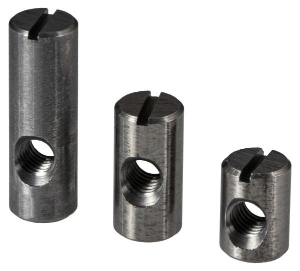 Quermutterbolzen aus Stahl mit M6-Gewinde