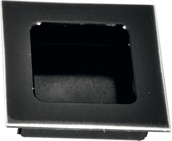 Häfele Muschelgriff Türgriff aus Messing schwarz eckig