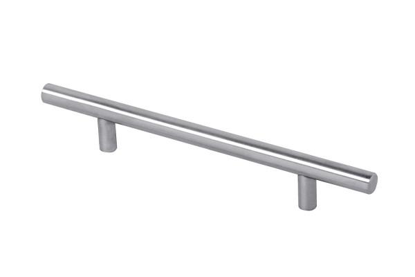 Möbelgriff LUNA aus Edelstahl, matt gebürstet Ø 12 mm