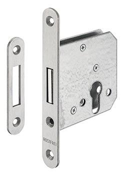 Startec Riegel-Einsteckschloss für Drehtüren PZ Dornmaß 55 mm Edelstahl oder Stahl