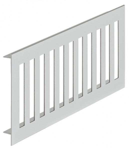 Häfele Lüftungsgitter H3632 eckig Aluminium silberfarben mit glatten Stegen