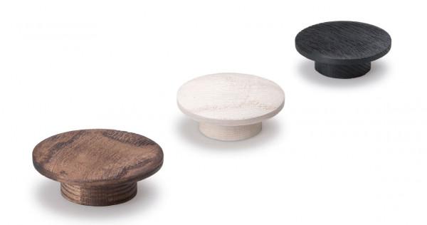 Möbelknopf ECHO aus Holz rund Ø 60 mm
