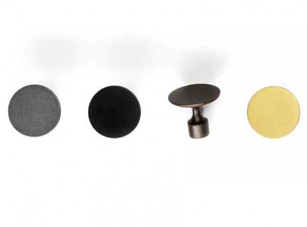Möbelknopf FLOID aus Metall Ø 35 mm