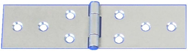 Tischband Inox mit vernietetem Stift und Schraublöchern