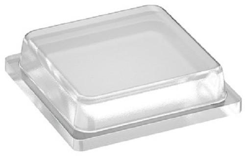 Häfele Anschlagpuffer selbstklebend eckig 10x10 mm Kunststoff transparent