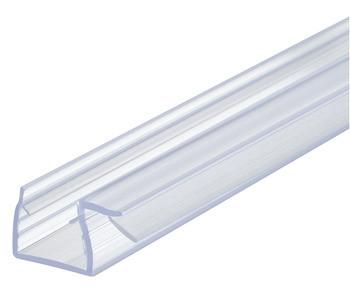 Aquasys Duschdichtung 10-12 mm Glas-Glas 90° Glastürdichtung Türdichtung Kunststoff Wasserabweiser