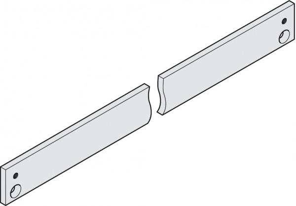 Geze Montageplatte TS 3000/5000 für Gleitschiene silberfarben