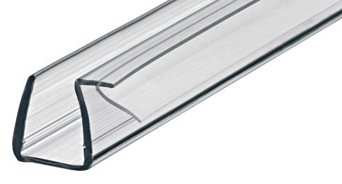 Aquasys Duschdichtung 90° Glas-Dichtung 8-10 mm Türdichtung Kunststoff Wasserabweiser