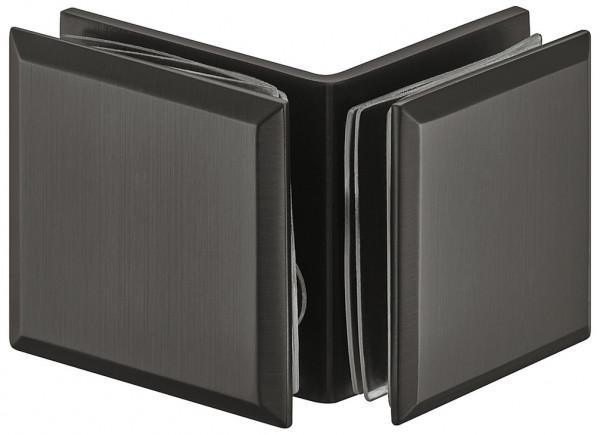 Häfele Glashalter H2229 für 90° Glasfront Messing graphit-schwarz