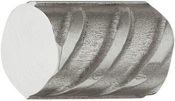 Häfele Möbelknopf H2044 Schrankknopf Baustahl-Optik Edelstahl gebürstet
