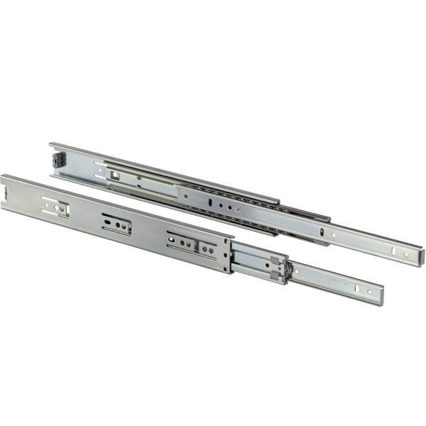 Schubladenschiene KTS aus Stahl Vollauszug 45 kg seitliche Montage
