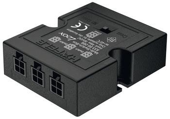 Häfele Loox Multi-Schalter-Box mit Kreuzschaltung schwarz
