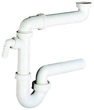 Häfele Siphon für Spüle Kunststoff Raumspar-Siphon